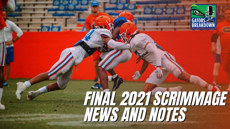 Florida's last scrimmage in 2021 mostly featured younger players trying to earn playing time