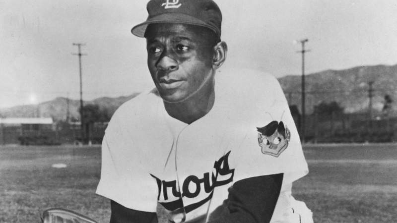 Satchel Paige, pitcher of the St. Louis Browns, poses for a portrat, circa 1950. (Photo by The Stanley Weston Archive)