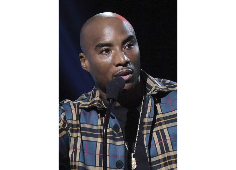 FILE - Charlamagne tha God appears at the 2019 iHeartRadio Podcast Awards in Burbank, Calif., on Jan.18, 2019. The popular radio host and podcaster has a new late-night talk show Tha Gods Honest Truth with Charlamagne Tha God, which airs Fridays on Comedy Central. (Photo by Richard Shotwell/Invision/AP, File)