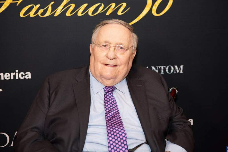 """This 2018 image released by Jeremy Daniel shows Philip J. Smith at the 30th anniversary celebration for """"The Phantom of the Opera,"""" in New York. Smith, who rose from box office treasurer at the Imperial Theatre on Broadway to chairman and co-CEO of the theatrical giant Shubert Organization, has died from complications from COVID-19, according to his daughters. He was 89. (Jeremy Daniel via AP)"""