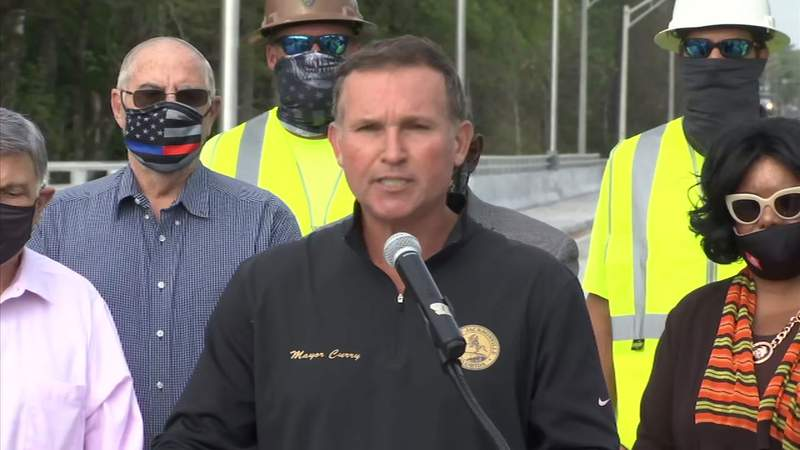 Mayor Lenny Curry announces gas tax hike to fund infrastructure improvements in Jacksonville.