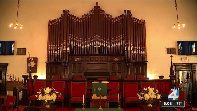 Crediting high vaccination rate, historic Black Jacksonville church welcomes people back inside