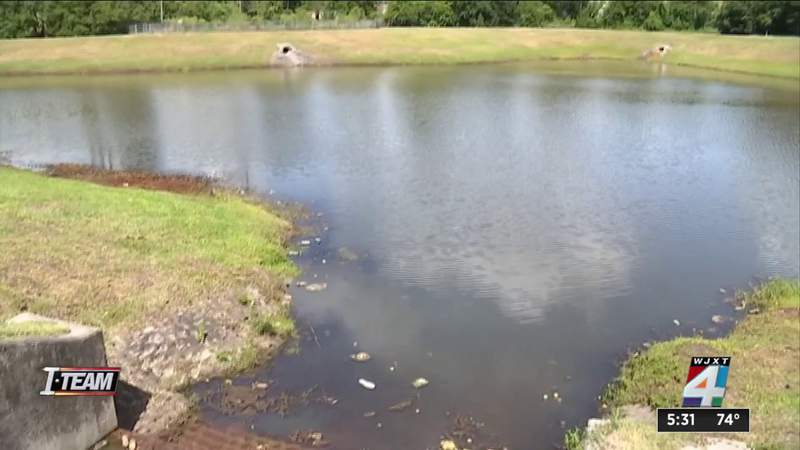 Retention pond safety meeting