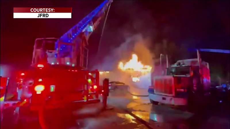 80 Firefighters Battled Massive Fire