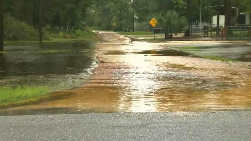 Flooding in Steinhatchee as Tropical Storm Elsa comes ashore
