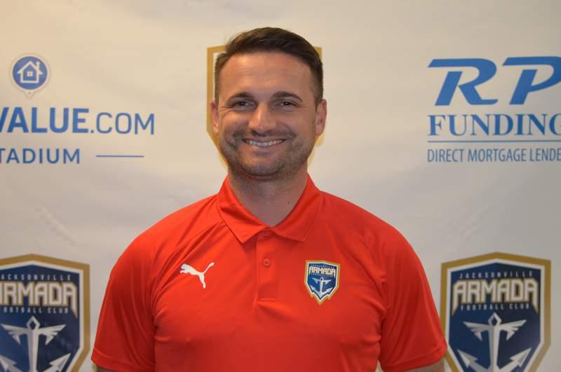 Tommy Krizanovic, named head coach of the Armada U-23 team in 2021.