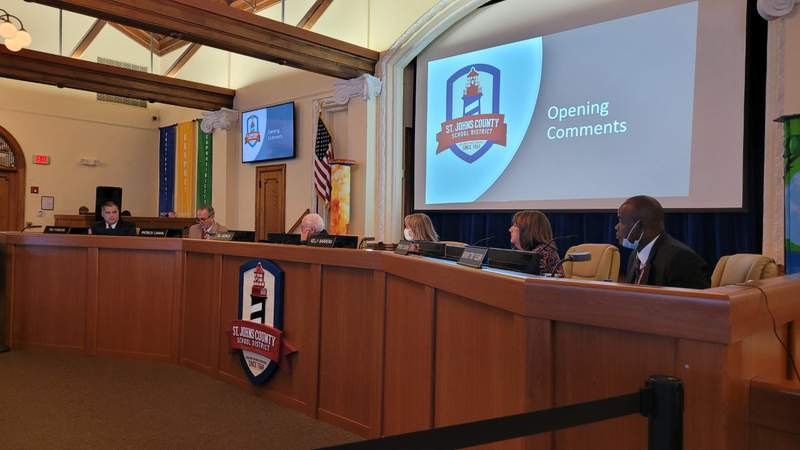 St. Johns County School Board discusses dress code changes.