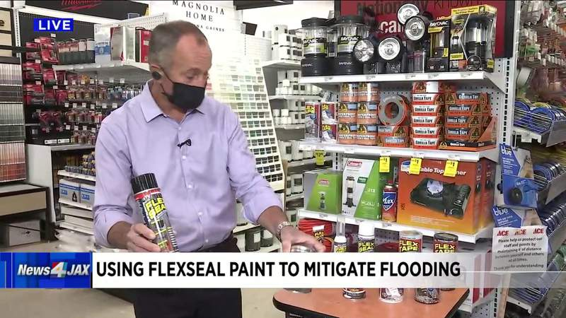 Using Flex Seal paint to mitigate flooding