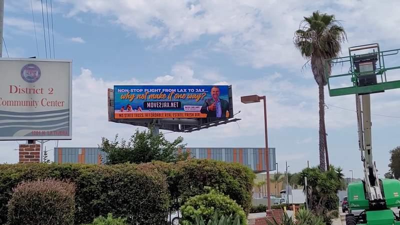 Video clip of the digital billboard In Los Angeles