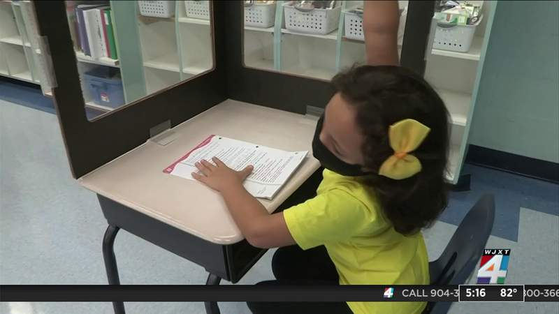Masks and virtual learning connected  parents' minds up  of schoolhouse  year