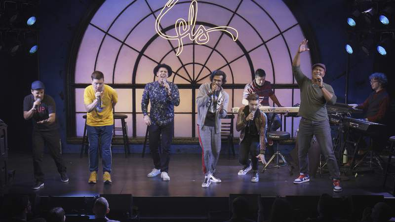 "This image released by Hulu shows a scene from ""We Are Freestyle Love Supreme."" (Hulu via AP)"