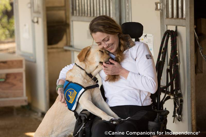 Dogs trained by Canine Companions for Independence® develop a strong family bond with their human partner.