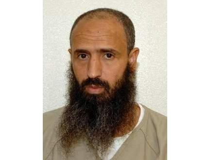This undated photo released by lawyer Shelby Sullivan-Bennis on Dec. 11, 2017 shows his client Abdullatif Nasser at the Guantanamo Bay detention center in Guantanamo Bay, Cuba. The Biden administration on Monday, July 19, 2021, transferred a detainee out of the Guantnamo Bay detention facility for the first time, sending the Moroccan man back home years after he was recommended for discharge. Nasser, who's in his mid-50s, was cleared for repatriation by a review board in July 2016 but remained at Guantanamo for the duration of the Trump presidency. (Shelby Sullivan-Bennis via AP)