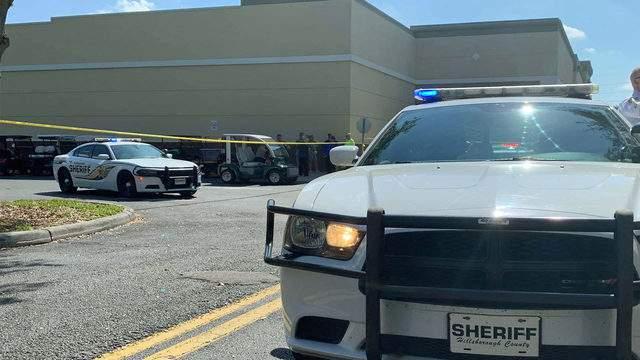 Hillsborough County Sheriff's Office patrol cars outside the Sun City Center. (Image: HCSO)