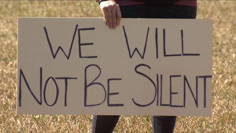 Protestors speak out against house bill