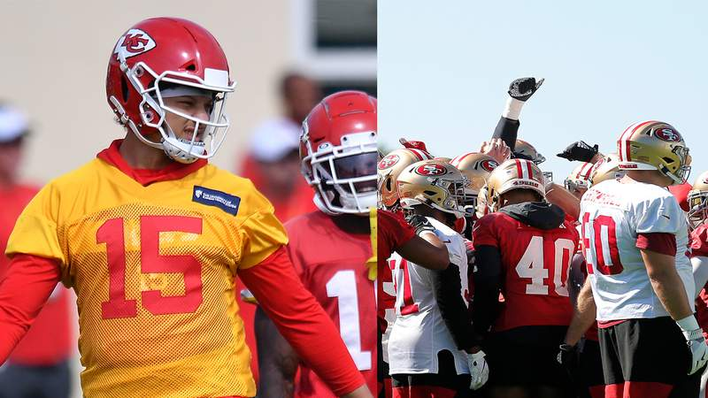 The Kansas City Chiefs and San Francisco 49ers practice for the final time before Super Bowl Sunday.