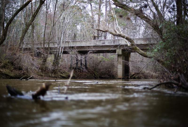 This file photo shows the Apalachee River at Moore's Ford Road in Monroe, Ga.