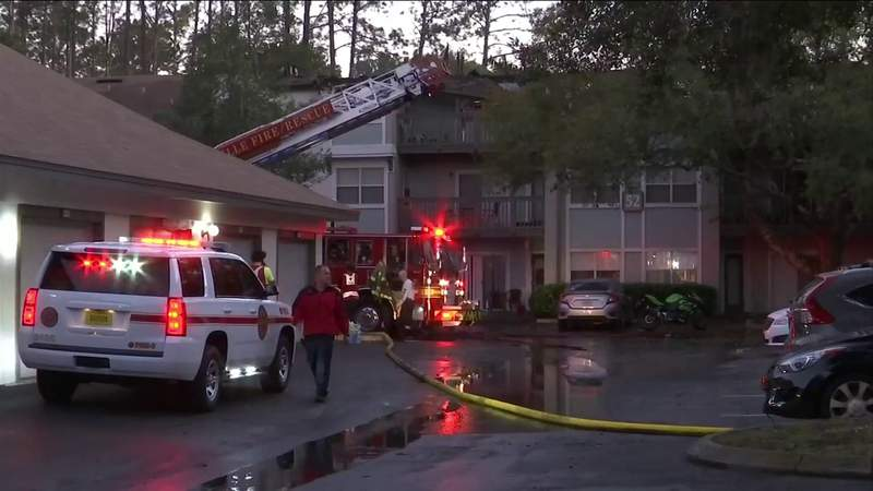 Firefighter hospitalized after blaze damages 20 units at Southside apartment complex