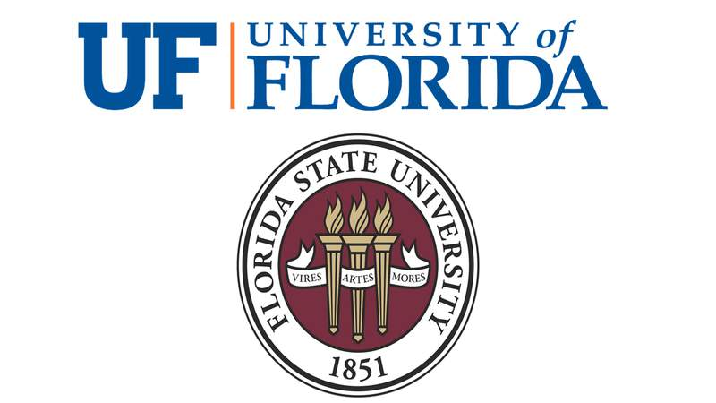The University of Florida and Florida State University are the oldest public institutions of higher learning in the state.