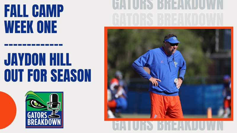 Gators conclude week one of fall camp 2021 with some disappointing news.