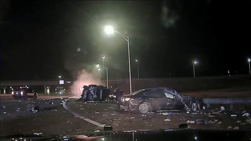 Dash Cam: Deputy injured in high-speed chase in Southeast Georgia