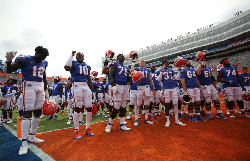 Saturday, October 3, 2020 at Ben Hill Griffin Stadium in Gainesville, Fla. / UAA Communications photo by Courtney Culbreath