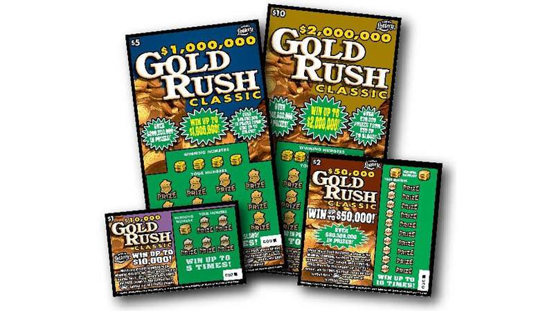 Florida Lottery Gold Rush scratch-off tickets
