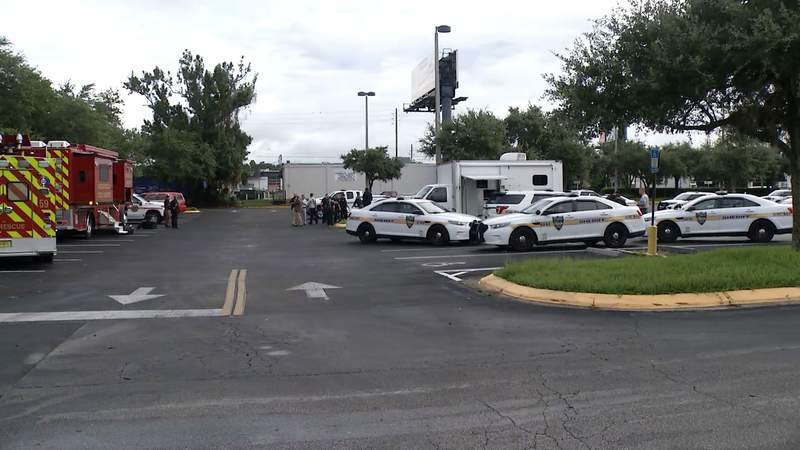A mobile command center was set up to search for a missing woman in Jacksonville.