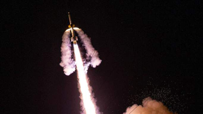 A Black Brant XII rocket carrying the KiNET-X payload launched from Wallops Flight Facility in Virginia at 8:44 p.m. Sunday. The mission released vapor tracers to explore energy transfer in space.