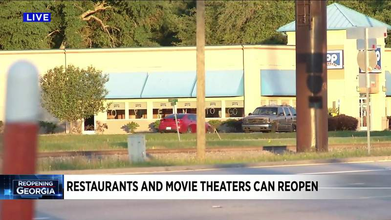Georgia restaurants and movie theaters can reopen