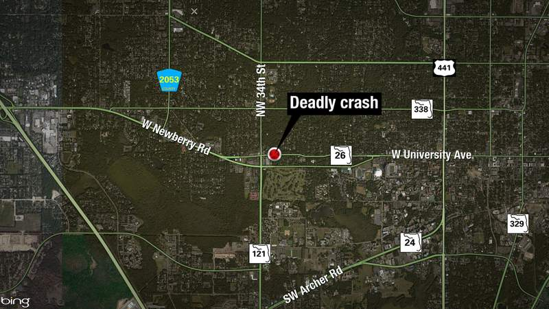 Two people died Saturday morning in a crash in Gainesville police say.