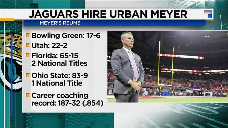 Done deal: Jaguars land Urban Meyer as new head coach
