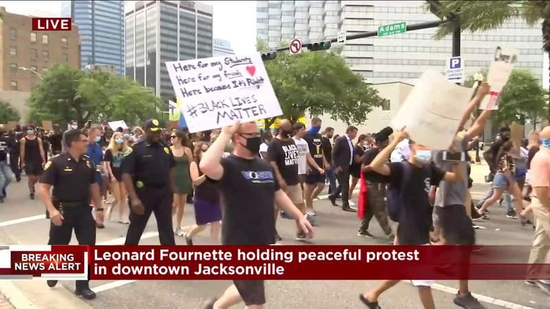 AS IT HAPPENED: Mayor, sheriff join Leonard Fournette's march