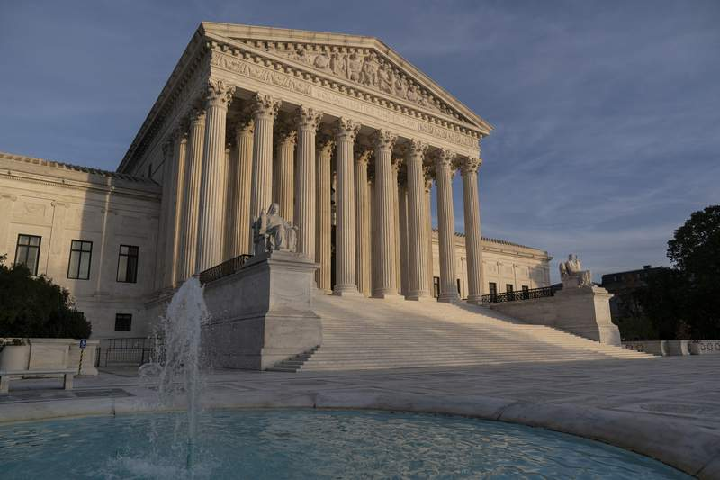 The Supreme Court is seen in Washington, Thursday, Nov. 5, 2020. Republican elected officials and the Trump administration are advancing their latest arguments to get rid of the Affordable Care Act, a long-held GOP goal that has repeatedly failed in Congress and the courts. (AP Photo/J. Scott Applewhite)